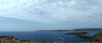 Blick auf Gozo von Comino aus