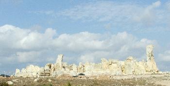Hagar Qim Temple, Vorderansicht