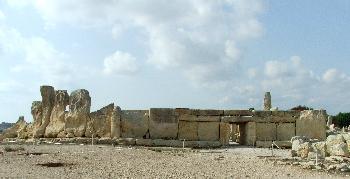 Hagar Qim Temple, Hinteransicht