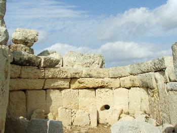 Hagar Qim Temple, Ovalraum