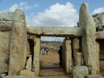 Mnajdra, Trilith-Eingang
