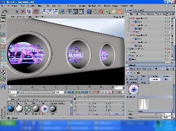 Cinema 4D - Arbeitsfläche und Projekt