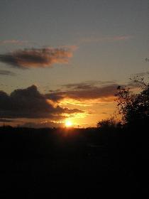 Sonnenuntergang im Herbst II
