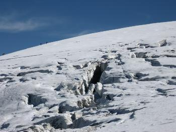Gletscherspalten am Normalweg