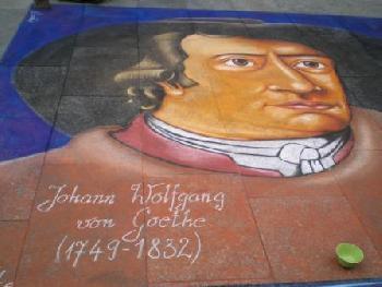 moto72: Straßenmalerei Johann Wolfgang von Goethe