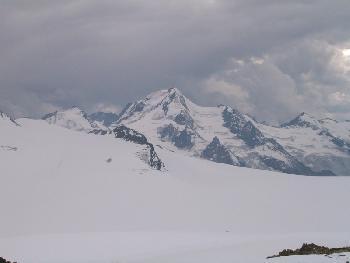 Blick zur Weißkugel - Gewitter in Italien