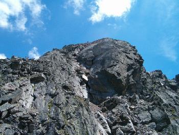Kletterei am NW-Grat des Flüela Wisshorns (3085 M ü. NN)