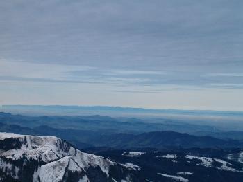 Beim Aufstieg Blick nach Westen, am Horizont der Schwarzwald