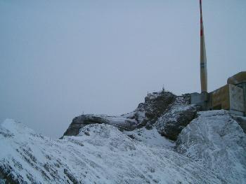 Gesicherter Steig kurz vor dem Gipfel