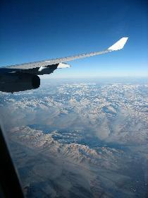 Rückflug über die Mongolei