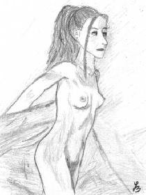Akt (Frau mit Tuch)
