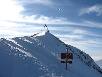 Die letzten Schritte bis zur Gipfelpyramide des Schäfler