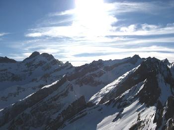 Blick zum Alpstein-Hauptmassiv
