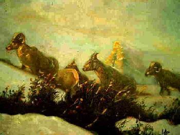 Dickhorn's Harem Öl auf Leinwand