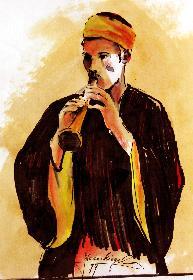Der Flötenspieler von Khan EL Khalil