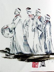 Musiker im Khan EL Khalil Markt