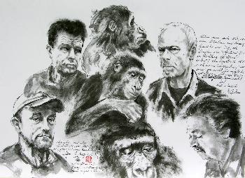 Die Herren der Primaten aus dem Zoo Berlin