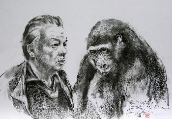 Reimon Opitz und Sangha aus dem Zoo Berlin