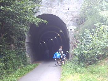 Kylltal Radweg an der Bahntrasse