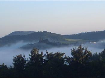 Blick auf Gerolstein Morgens an der Jugendherberge