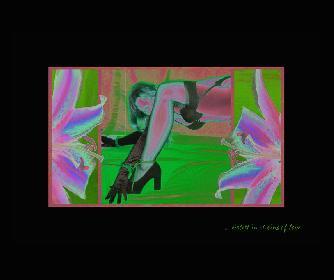 DIGITALKOLLAGE  ... violett in chains of love