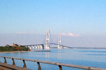 die Storebæltbrücke in Dänemark