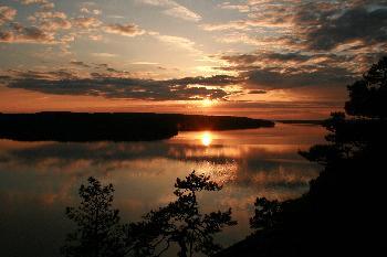 Sonnenuntergang am Lelang
