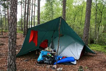 unser Zelt auf der Insel Getöarna im Foxen