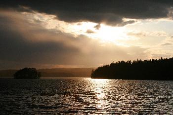 Blich nach Norwegen - auf der Insel Trollön im Stora Le