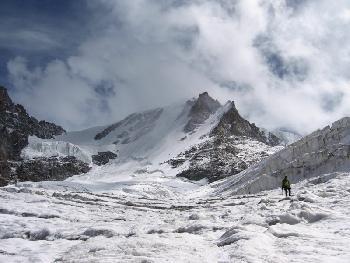 Der Weg über den Laveciaugletscher
