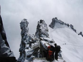 Kletterei - die letzten Meter zum Gipfel