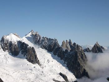 Die Aiguilles von Chamonix