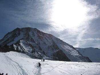 Aufstieg zur Aiguille de Gouter (3863 m)