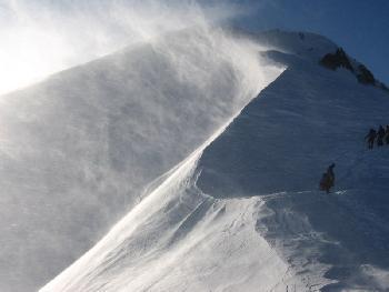 Sturm am Bossesgrat (ca. 4600 m)