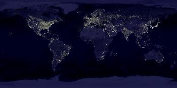 Die Erde bei Nacht...