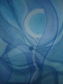 Eintauchen in die blaue Tiefe