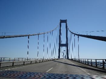 Storebaelt-Brücke Dänemark nah
