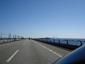Storebaelt-Brücke Dänemark fern