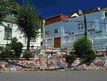 Straßenkunst  in Valparaiso