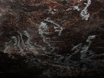 Salzeinschlüsse in der Decke