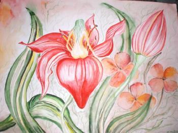 Auf einer Lilie