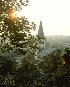 Abendstimmung über Siegburg