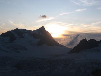 Sonnenuntergang am Schärhorn