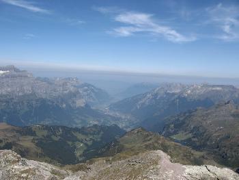Blick nach Norden ins Glarnerland
