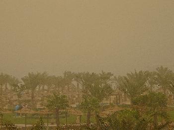 Sandsturm aus Saudi Arabien ...