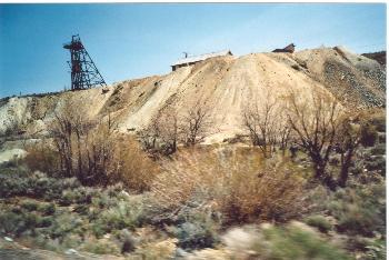 Alte Goldgräberminen in der Nähe von Virginia City