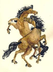 Tanzende Pferde
