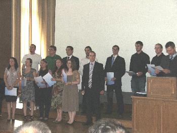 Absolventenfeier Informatik/Mathematik Uni Frankfurt Gruppenbild