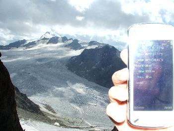 14. Wildspitze mit Positions- und Höheangaben