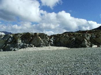 17. Diagonale Basaltstrukturen
